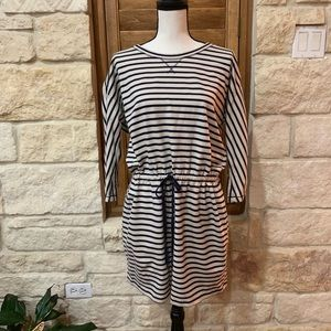 Loft Striped Drawstring Mini Size Large EUC